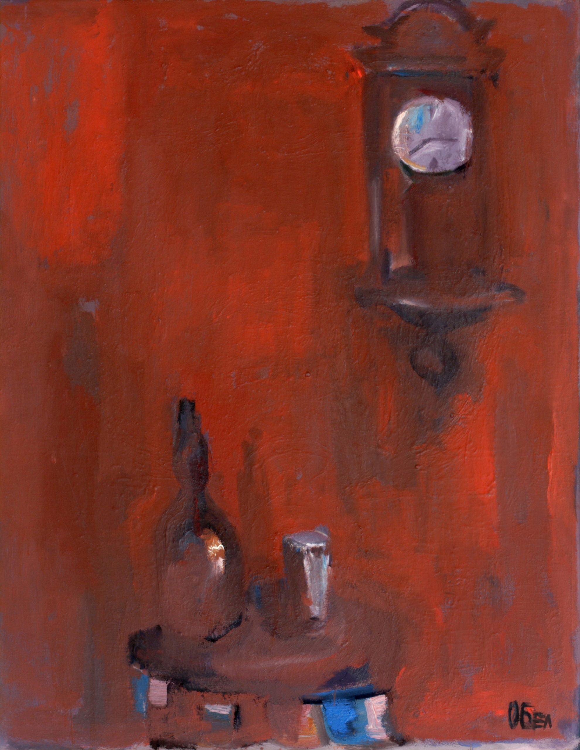 Натюрморт 'Спрелият часовник' от Олга Белопитова