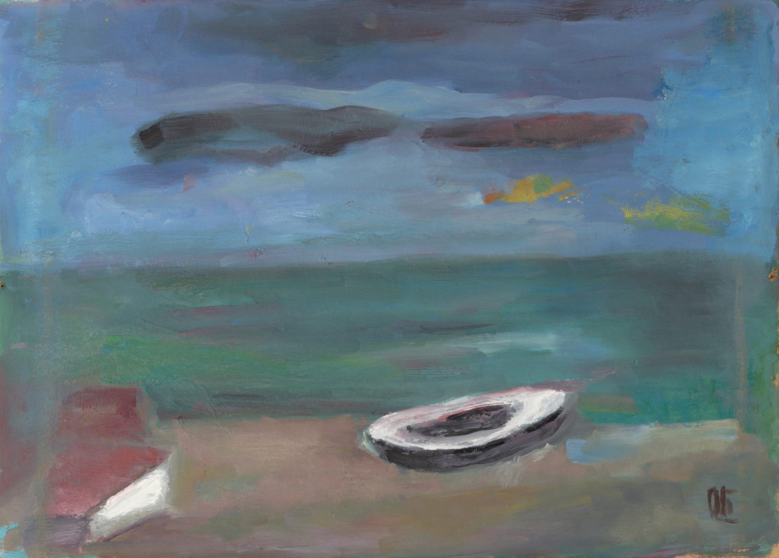 Пейзаж 'Лодка' от Олга Белопитова