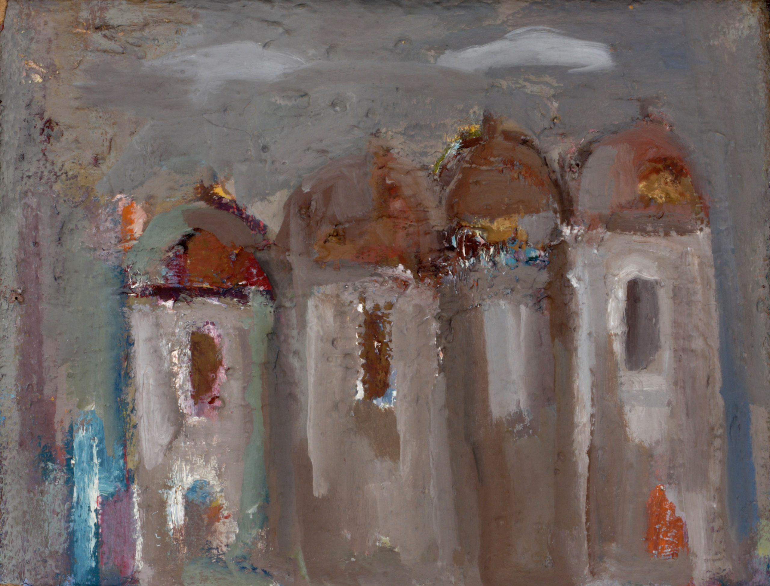 Пейзаж 'Къщи' от Олга Белопитова
