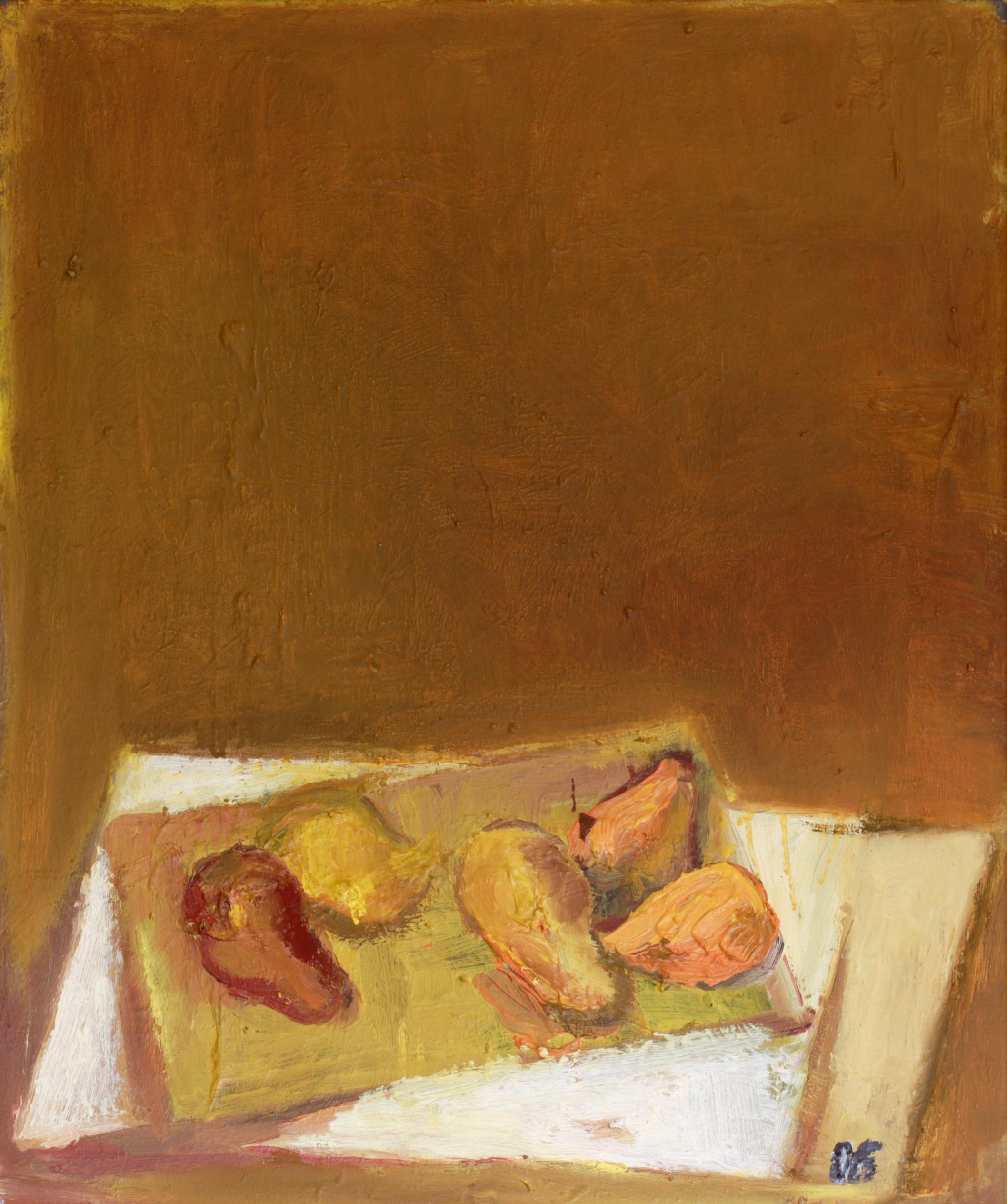Натюрморт 'Жълти плодове' от Олга Белопитова