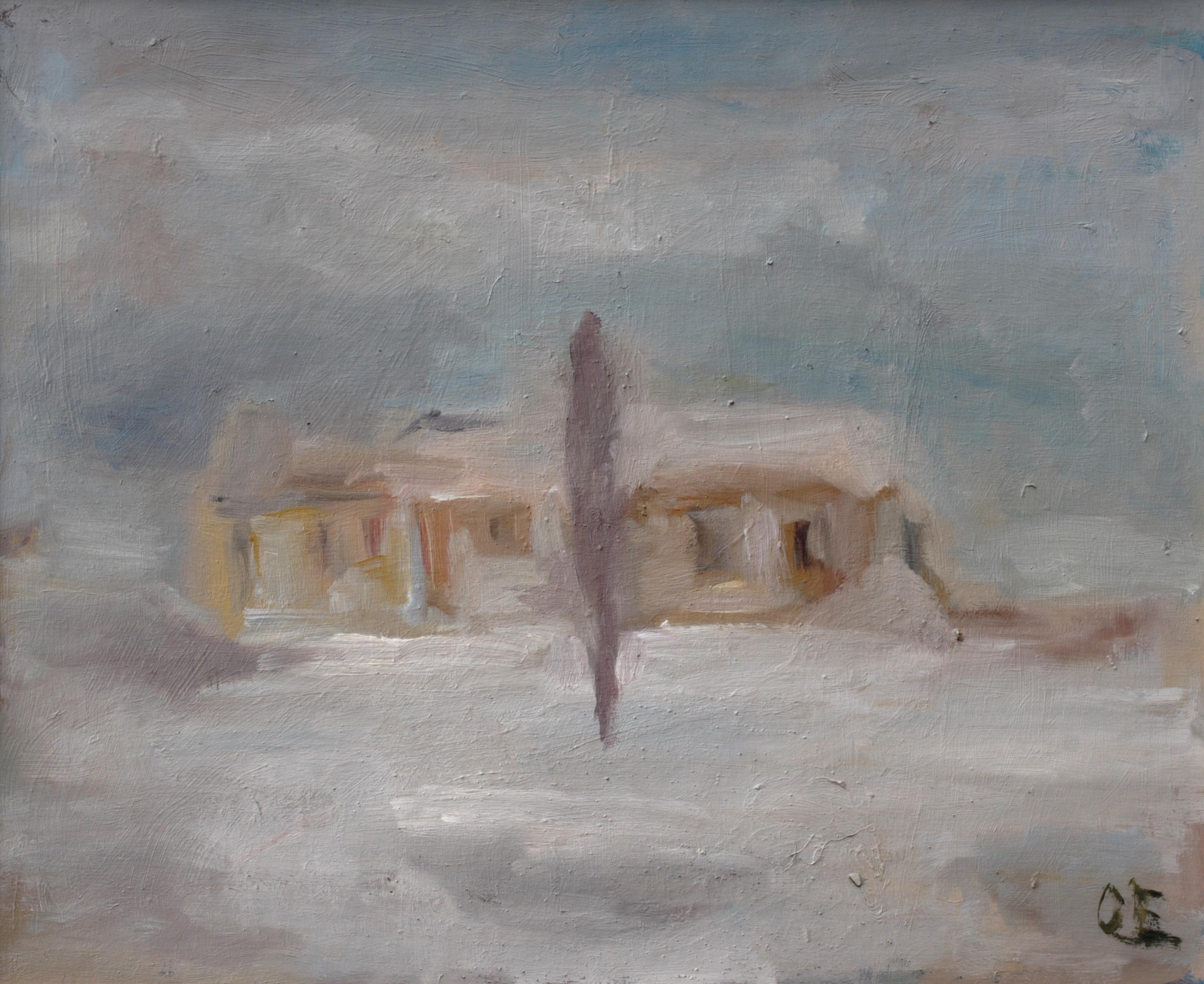 Пейзаж 'Къщи' 3 от Олга Белопитова