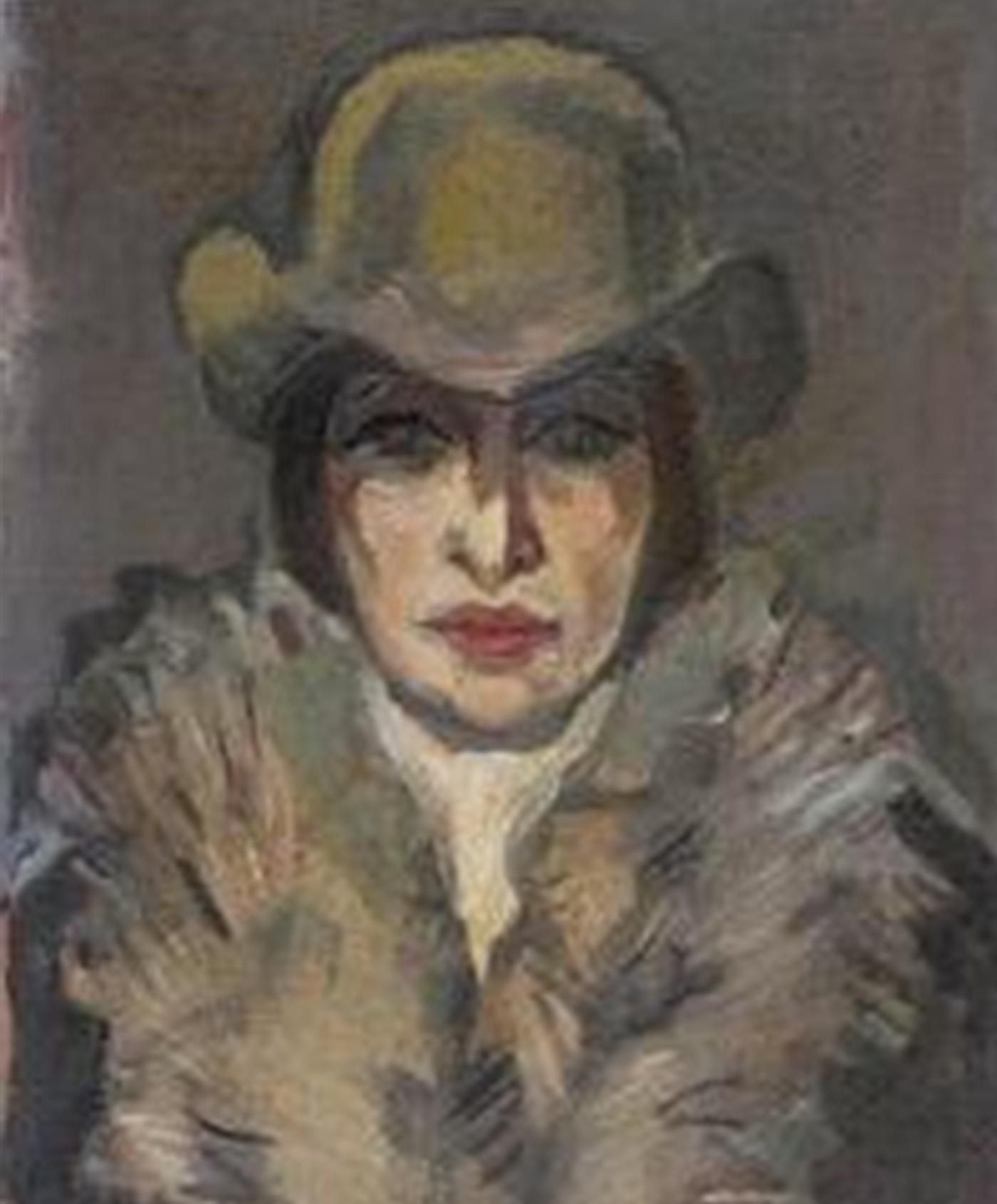 Портрет 'Дама с шапка' от Олга Белопитова
