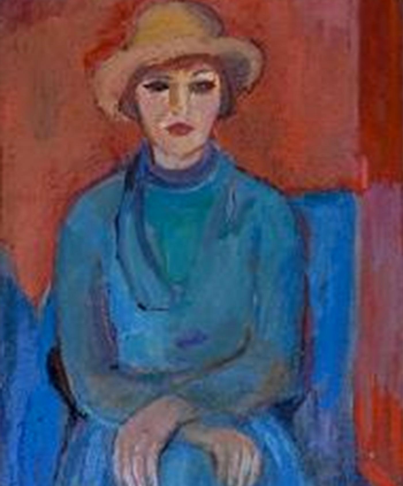 Портрет 'Дама в синьо' от Олга Белопитова
